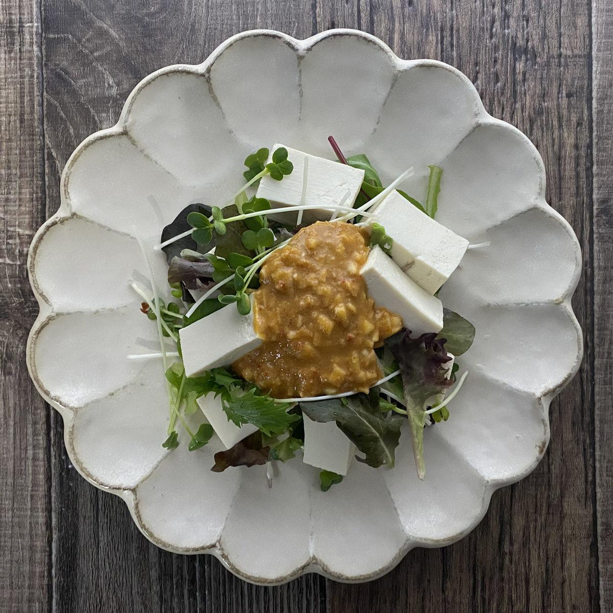 豆腐のゴマだれサラダ