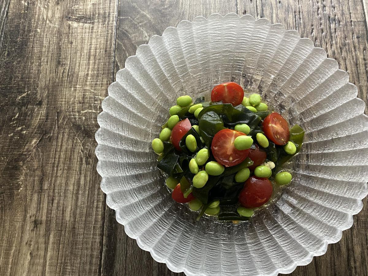 わかめと枝豆のサラダ