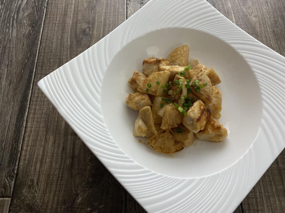 鶏むね肉と大根の味噌炒め