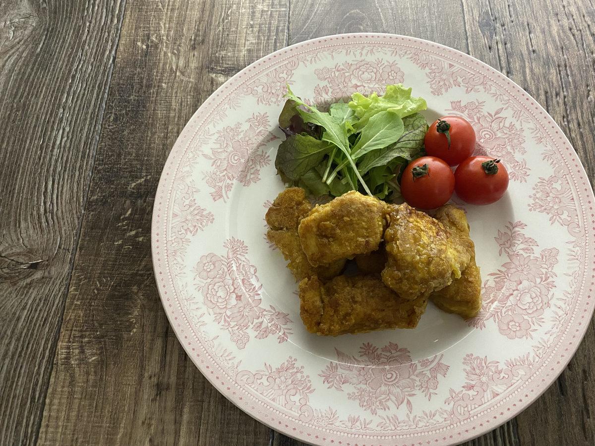 鶏むね肉deカレー風味の唐揚げ