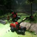 森林で働く重機