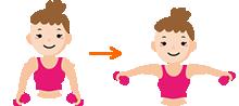腕の横上げ~肩の筋肉を鍛える運動