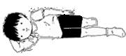 四頭筋~大腿前部の筋肉を伸ばす運動