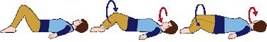 腰をひねる(お尻の二重回転)~お尻と大腿の外側筋を伸ばす運動