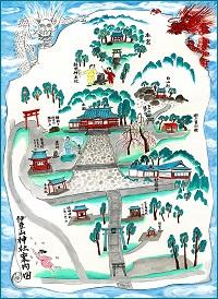 伊豆山神社案内図