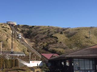 十国峠駅 ケーブルカーとレストハウス