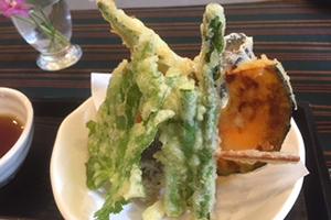天ぷら(明日葉、アスパラガス、なす、かぼちゃ、オクラ)
