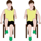 椅子に座ってもできるその場足踏みは全身運動です