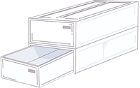 収納ボックスは引き出し式がおすすめです。