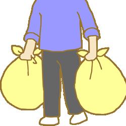 買い物客は見た 大きなビニール袋に保冷用氷を満杯!
