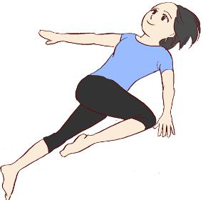 腰の筋肉の緊張をほぐす体操。運動後のクールダウンにも適しています。