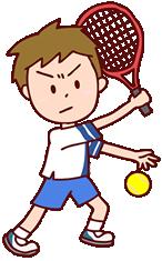 テニスは腰を痛めやすく、肘やひざ、足首にも負担
