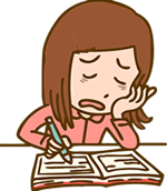 嫌なことが起こったら、状況、考え、行動、気分を書き出し、心の中を整理する
