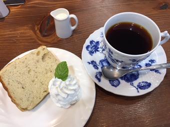 ミカド珈琲 シフォンケーキセット