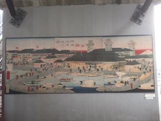 歩道橋下の壁画