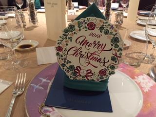 テーブルセットもクリスマス仕様