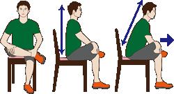 椅子を使って固くなったお尻を伸ばすストレッチ