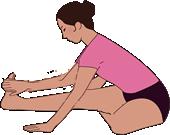 腿の裏を伸ばすストレッチ