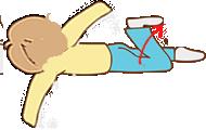 脚を振り骨盤、股関節周りをほぐすストレッチ
