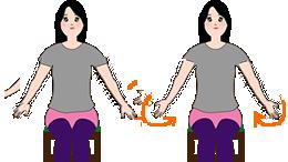 肩関節を回すストレッチ