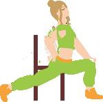 太ももの付け根を伸ばすストレッチ
