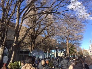 JR上野駅公園口を出たところ