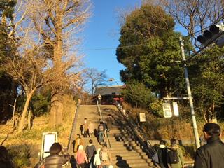 階段の上に東叡山寛永寺清水観音堂