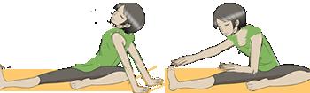 太ももの裏側にある大きな筋肉(ハムストリング)を伸ばししなやかにするストレッチです。