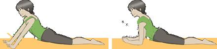 お腹の前側を走る大きな筋肉(腹直筋)を無理なく、気持ちよく伸ばすストレッチです。