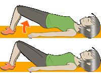 お尻上げ:背中下側のたるみを解消する筋トレ