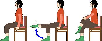 膝伸ばし:太ももの裏とお尻の筋肉を伸ばし、太ももの前の筋肉と股関節を鍛えます。