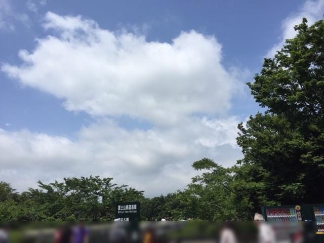 御殿場アウトレット、富士山は見えず