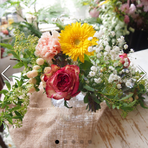1200円のプレミアムプランのお花例