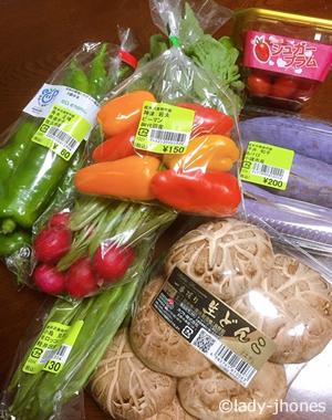 軽井沢発地市庭で仕入れた新鮮な野菜たち