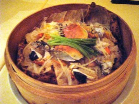 上海蟹のおこわ