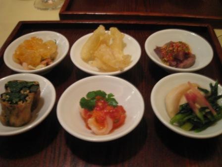 筍の豆皿前菜六品