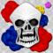 skull ドクロ スカル バラ 幾何学模様