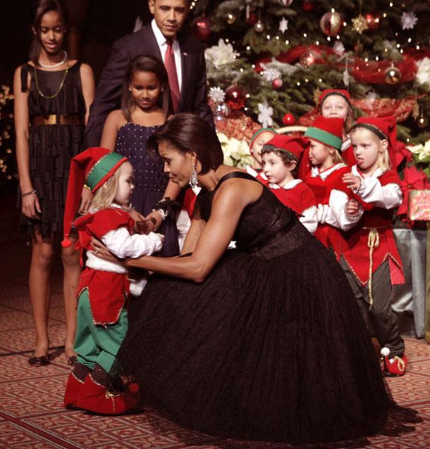 soirée de noël - Michelle Obama