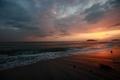 背景ー夕暮れと江ノ島ー
