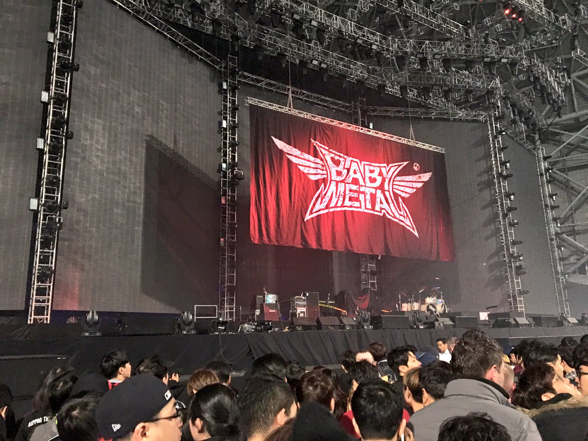 【エンタメ画像】BABYMETAL 「METALLICA WORLDWIRED TOUR 2017」の様子