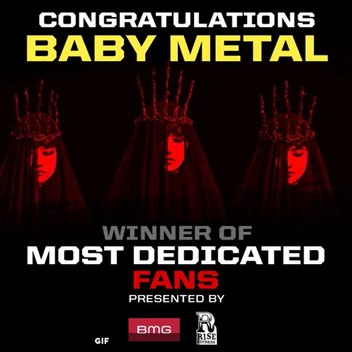 BABYMETAL Loudwireの献身的なファン賞を受賞