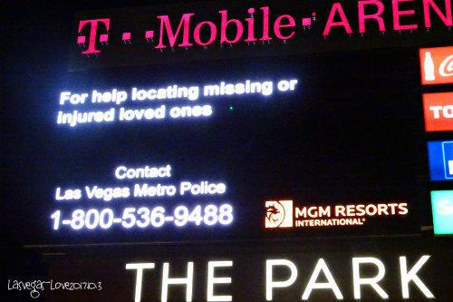 ラスベガス警察のメッセージ