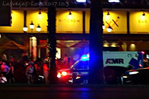 パリスホテル前 救急車