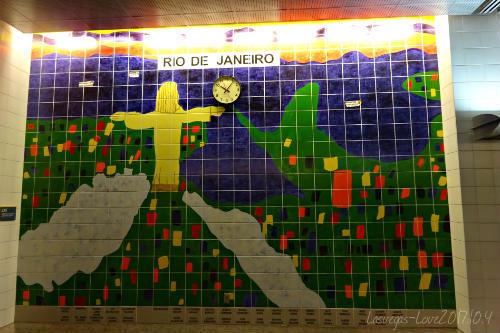 リオデジャネイロ 壁のタイル画