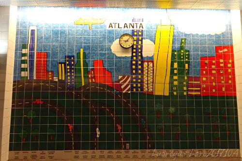 アトランタ 壁のタイル画