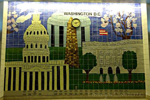 ワシントンDC 壁のタイル画
