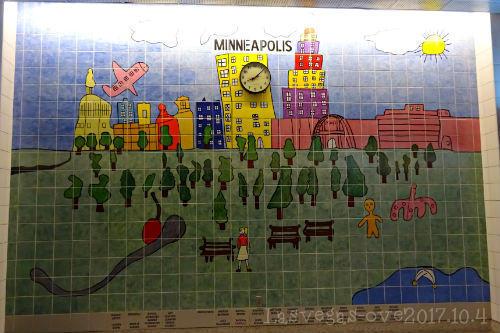 ミネアポリス 壁のタイル画