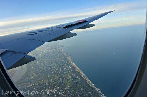 機上から日本