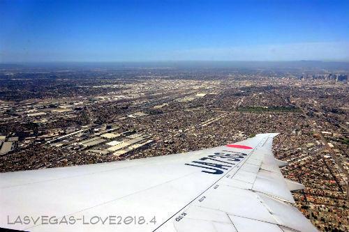 ロサンゼルス上空