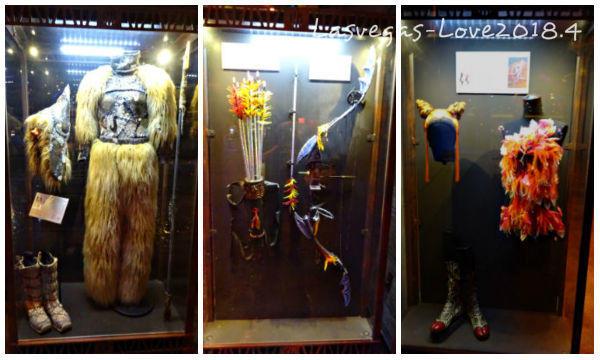 衣装や小道具 展示